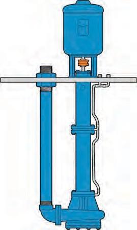 Рис. 6. Полупогружной вертикальный нефтяной химический насос типа VS5