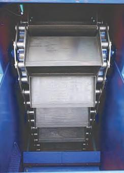 Рис. 1. Ковшовый элеватор BWZ с центральной цепью (слева) и ковшовый элеватор BWDK с двумя боковыми цепями (справа) производства компании «АУМУНД Фрдертекник ГмбХ»