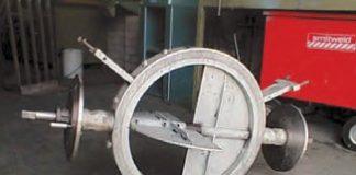 Рис. 3. Устройство закручивания потока газа