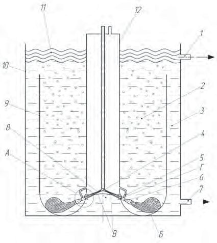 Рис. 5. Фильтровальное устройство для очистки нефтьсодержащих сточных вод от тонкодисперсных примесей