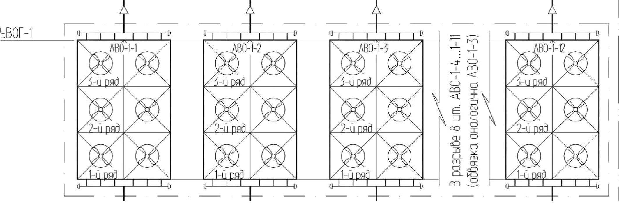 Рис. 8. Схема технологическая УВОГ-1 на дожимной КС