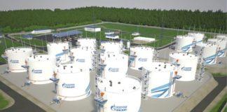 Рис. 1. Общий вид нефтебазы с резервуарами РВС